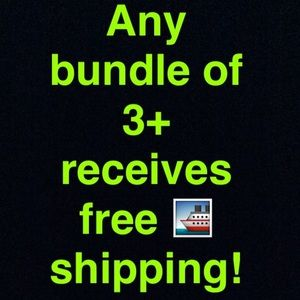 FREE SHIPPING ON 3+ items